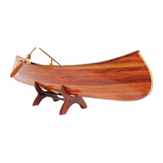 Model Canoe Traditional Antique Indian Girl