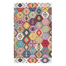 NuLOOM   NuLOOM Hand Tufted Tikal AH06 Hexagon Tribal Rug, Multi, 5u0027x8