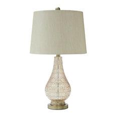 "Latoya Champagne 25"" Glass Table Lamp"