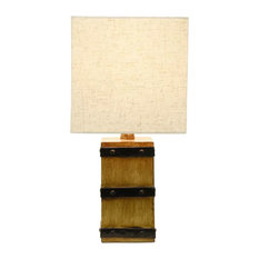 Decor Therapy   Campbell Square Barrel Accent Lamp   Table Lamps