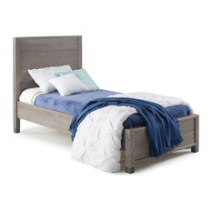 Baja Platform Bed, Twin, Rustic Gray