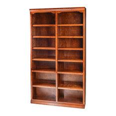 Traditional Alder Bookcase, Honey Oak, 30h