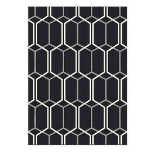 Patio Rectangular Rug, Black, 160x230 cm