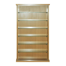 Watsons   Collectors Display Cabinet With 6 Glass Shelves, Oak   Display  Cabinets U0026 Dressers