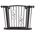 """NMN Designs - Noblesse Dog Gate, Black, Hallway 34""""-39"""" - Handsomely constructed pressure mount dog gate made of high grade, recycled steel. Gate arrives fully-assembled and easily fits within most doorways and hallways in minutes. Hallway size is 34""""-39"""" wide."""