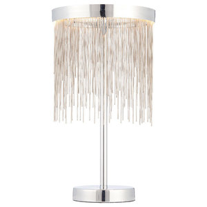 Endon Zelma LED Table Lamp, Polished Chrome
