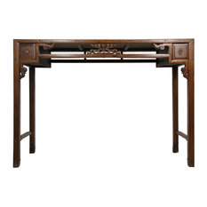 Consigned Antique Chinese Open Carved Altar/Sofa Table