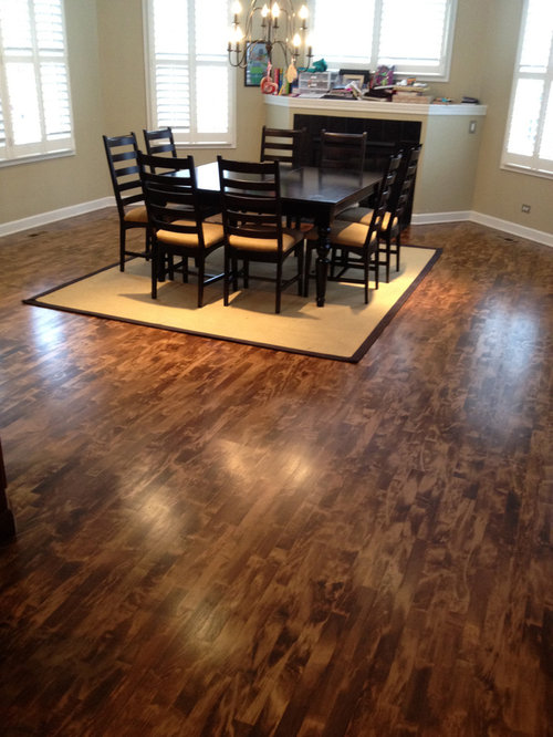 Stained Maple Wood Floors