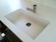Very Stylish, Extremely User Friendly And You Canu0027t Get A Cleaner Look. You  Can See More Corian Brand Sinks Here.