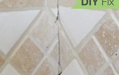 Quick Fix: Repair Cracked Bathroom Grout