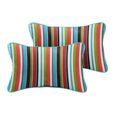 Talbot Sunbrella Outdoor Lumbar Pillow, Set of 2, Multi