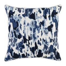 "Kosas Danube Embroidered 22"" Throw Pillow, Ivory"