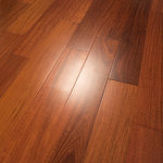 """Hurst Hardwoods - Santos Mahogany Prefinished Engineered Wood Flooring, Sample - This listing is for two 9"""" long sample pieces of our popular 4 3/4"""" x 1/2"""" Santos Mahogany Prefinished Engineered wood floor. This exotic wood flooring is made from Clear Grade Santhos Mahogany (the absolute finest grade on the market today) and offers beautiful aesthetics to compliment your home's interior space. Featuring a 9-ply construction, tongue & groove milling profile, smooth texture, and micro-beveled edges/ends for easy installation, this engineered hardwood floor is both CARB Phase II certified & Lacey Act compliant. This flooring also boasts an 11-coat Aluminum Oxide finish, making it highly scratch resistant. Actual flooring planks come in 12"""" to 72"""" random lengths. This wood species has a Janka hardness rating of 2200, making it very durable for busy homes. Installation methods include glue, float, nail or staple down. Comes with a 30 Year Finish Warranty. For more information, please refer to our Terms & Policies for statements on moisture control, radiant heat, shipping, damage, and returns. For over 25 years, Hurst Hardwoods has been a national leading hardwood flooring wholesaler."""