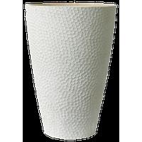 "Algreen Hammered Vase Planter, Weathered White, 20""x15"""