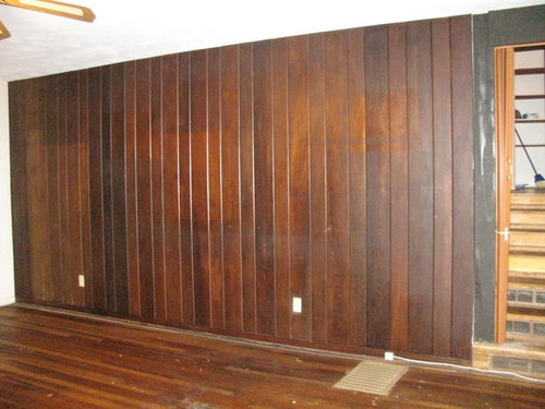 I Need Ideas For A Dark Wood Paneled Wall In Living Room