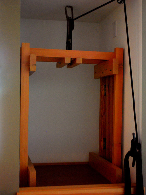 Dumbwaiter houzz for Diy home elevator plans