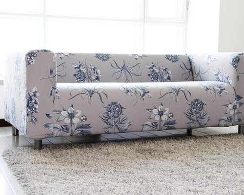 Custom velvet slipcover for the ikea klippan 2 seater sofa for Ikea sofa slipcovers discontinued