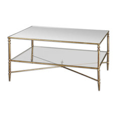 Uttermost   Henzler Mirrored Glass Coffee Table By Uttermost   Coffee Tables