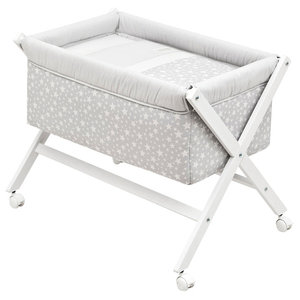 Lumino Cot, 87x55 cm, Grey, With Canopy