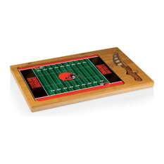 Cleveland Browns Icon Cutting Board and Tray and Knife Set, Football Design