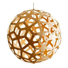 "David Trubridge Coral Kitset Pendant 23 1/2"", Bamboo"