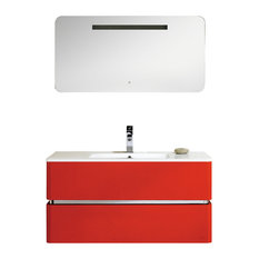 Fine Fixtures Sundance Collection Vanity, Red High Gloss, 40""
