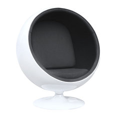 Fine Mod Imports Ball Chair, Black
