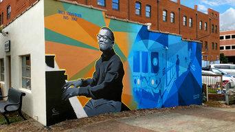 Take the 'A' Train Mural for Downtown Hillsborough