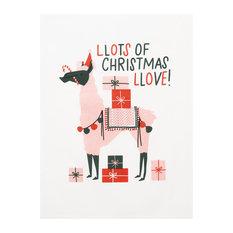 "Llama Christmas Love Kitchen Towel, Set of 2, 18""x25"""
