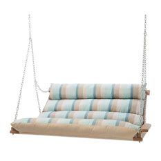 Hatteras Hammocks Sunbrella Deluxe Cushion Swing, Gateway Mist