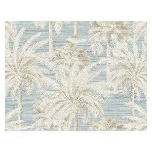 Dream Of Palm Trees Blue Texture Wallpaper, Bolt