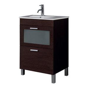 AMK 600 Bathroom Vanity Unit, 60x45 cm, Wenge