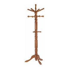 Spinning-Top Wooden Coat Rack, Oak