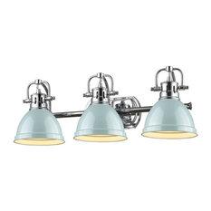 Golden Duncan 3-LT Bath Vanity Light 3602-BA3 CH-SF - Chrome