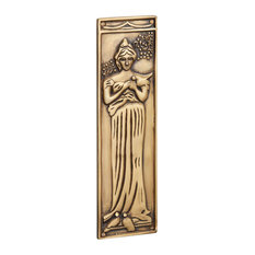 Finger Plate Princess, Antique Satin Brass
