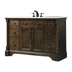 "48"" Single Sink Bathroom Vanity, Antique Coffee"