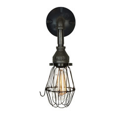 Industrial Iron Wall Sconce