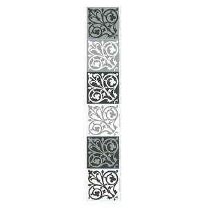 Baroque Cement Tile Wall Panels, 15x15 cm, Set of 18