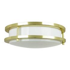 "12"" Energy Saving Band Trim Fixture Polished Brass White Lens"