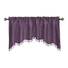 Solid Pattern Soho Swag Valances, Set of 2, Purple