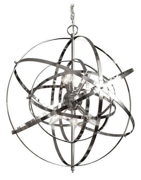 foucault u0026 39 s orb chandelier chrome - contemporary - chandeliers