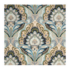 Safavieh Rachel Hand-Tufted Rug, Multicolored and Blue, 7'x7' Square