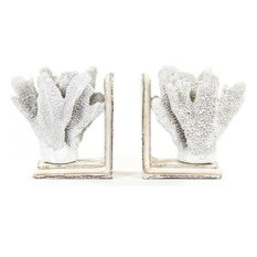 Bookends Bookend Coral White Black Polyresin