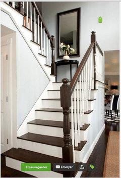 conseils pour relooker un escalier ch ne sans peindre les marches. Black Bedroom Furniture Sets. Home Design Ideas