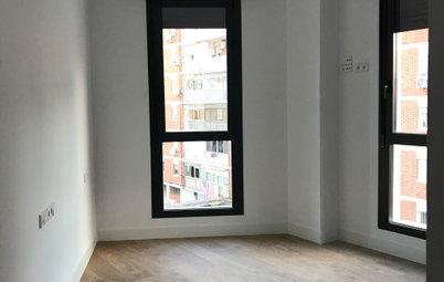 ¡Vaya cambio! Color, luz y espacios abiertos en un piso en Madrid