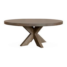 Hugo Round Dining Table Smoke Grey 72-inchx72-inch