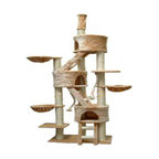 Cat Tree Condo, Beige, 106""