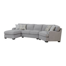 Emerald Home - Emerald Home Analiese Sectional Linen, Gray - Sectional Sofas