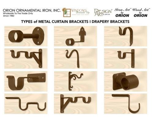 Curtains Ideas curtain rod accessories : CURTAIN RODS & DRAPERY HARDWARE - Finials I Rings I Brackets I ...