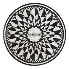 "Modern Mosaic Medallion, Imagine Ii, 35""x35"""